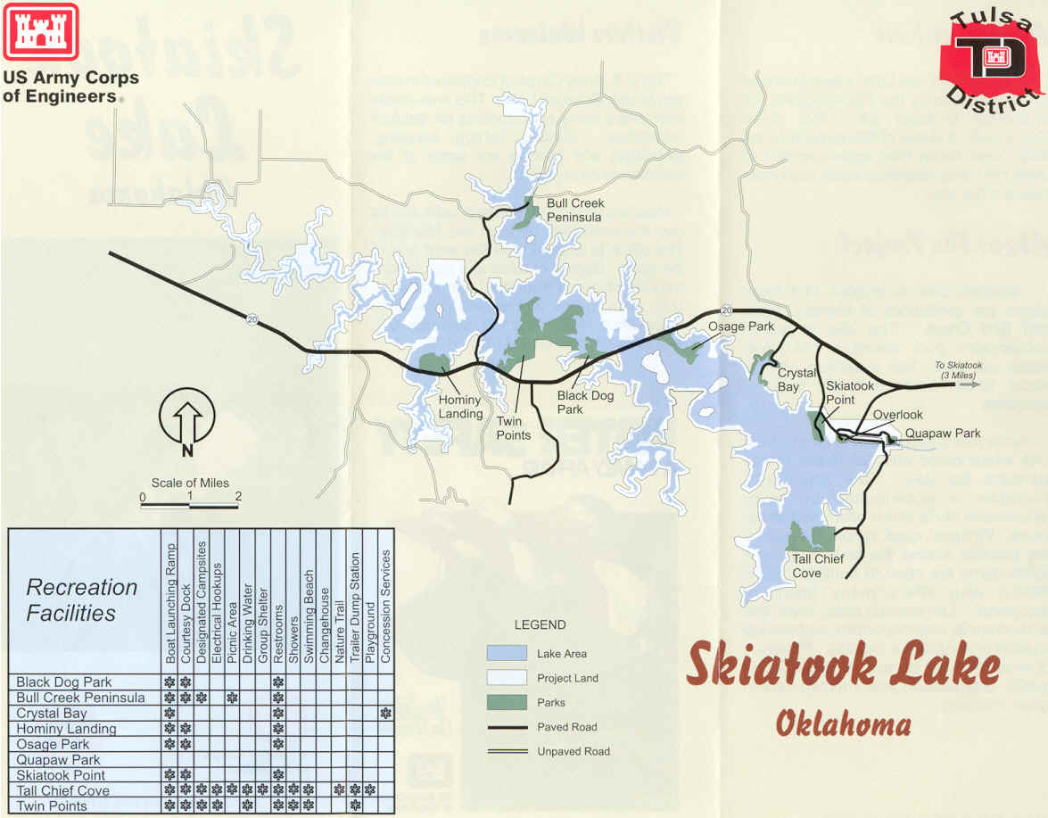 Skiatook Lake Oklahoma - Oklahoma map of lakes